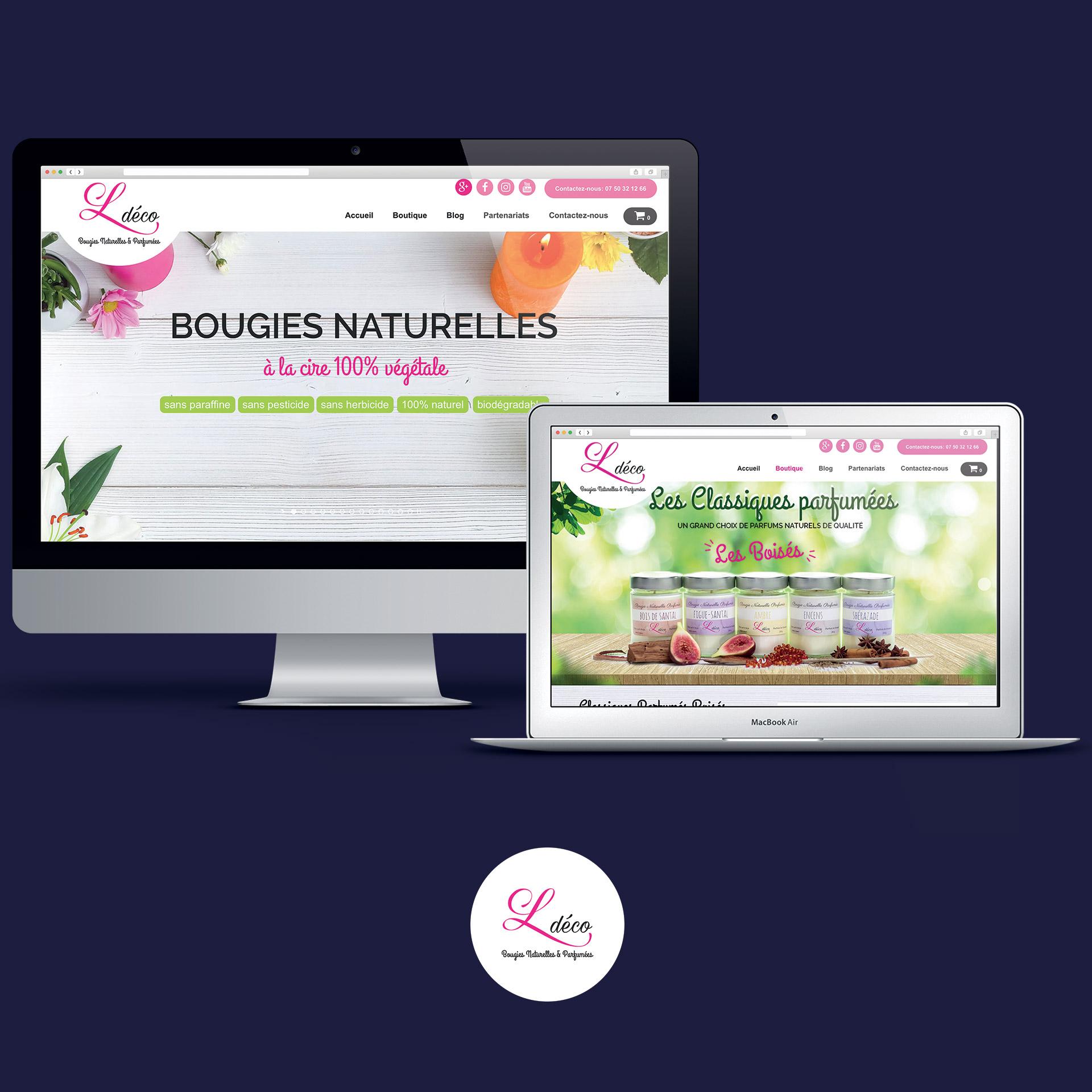 Ldéco Bougies Naturelles & Parfumées